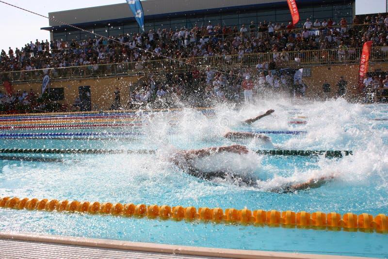 A arena internacional da reunião de XXIIe da natação fotografia de stock