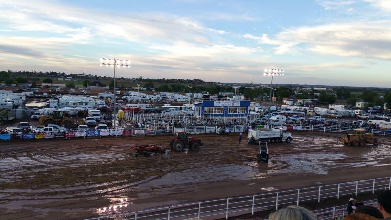 Arena inundada do rodeio foto de stock royalty free