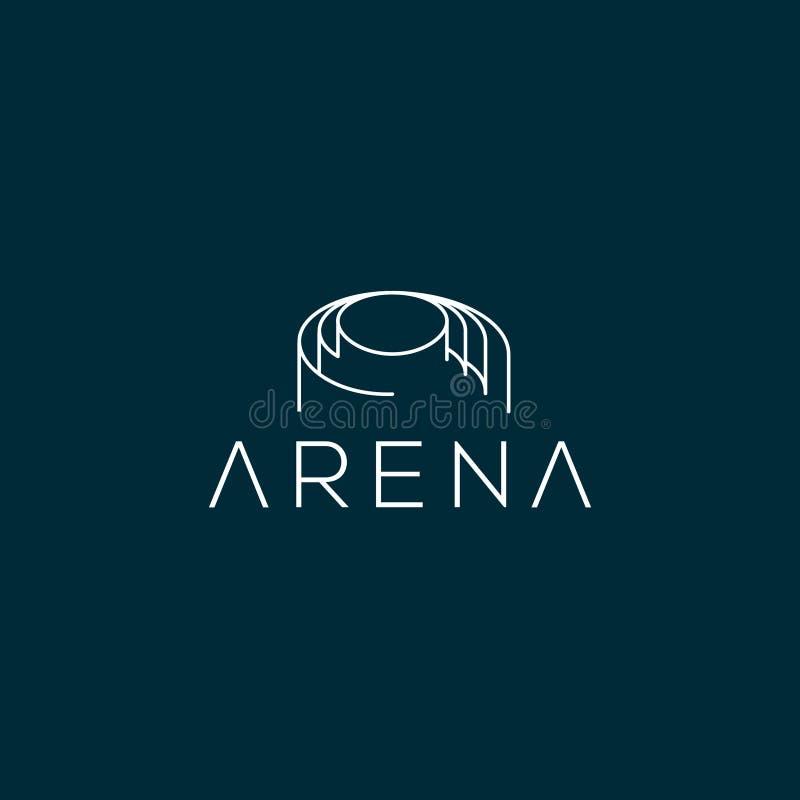 Arena loga wektorowy projekt Areny ikona royalty ilustracja