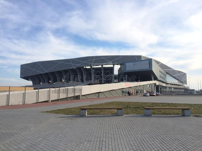 Arena of Lviv stock photography
