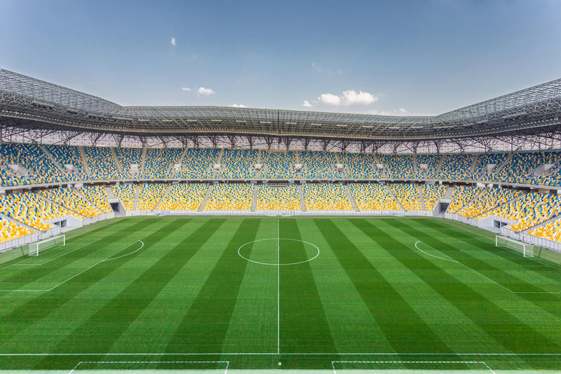 Arena Lviv stadium royalty free stock image