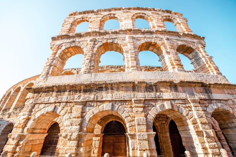 Arena na cidade de Verona fotos de stock royalty free