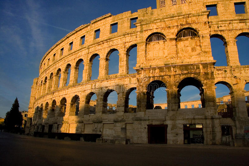 Arena nei PULA Croatia fotografie stock libere da diritti
