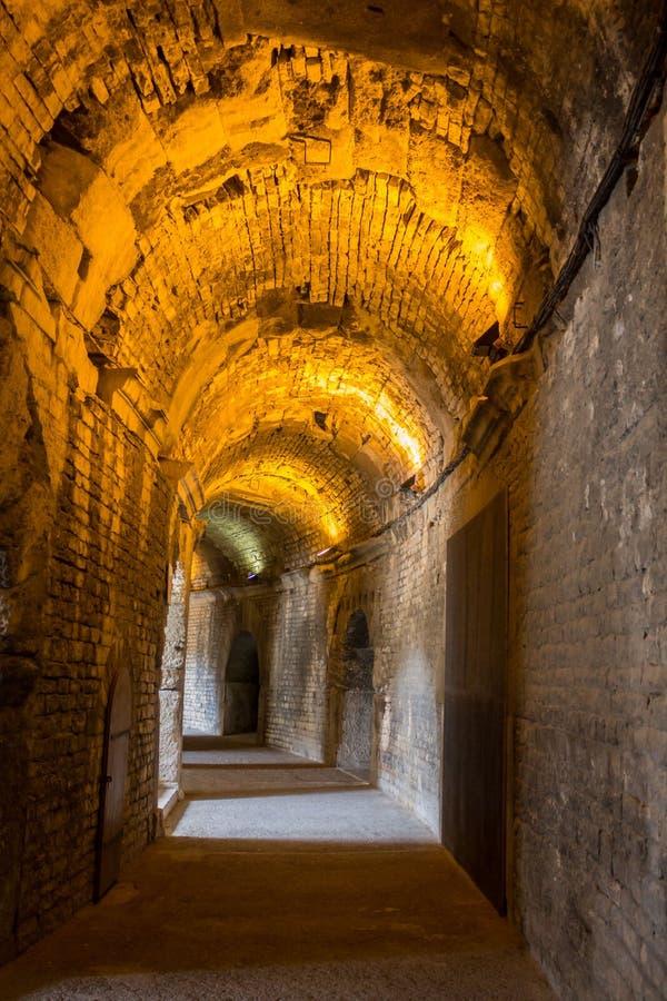 Arena Nimes Francja obrazy royalty free