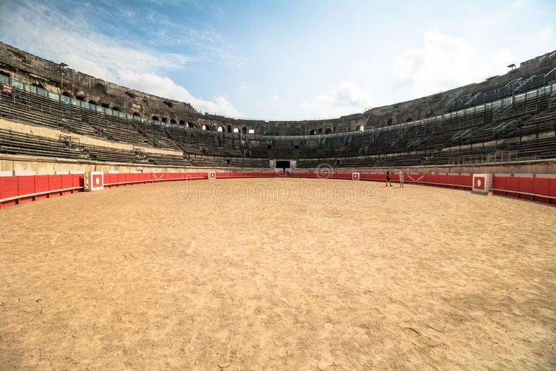Arena Nimes, Nimes, Francja zdjęcia royalty free