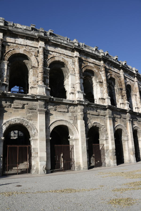 Arena of Nimes. In Gard,Languedoc region of France stock photography