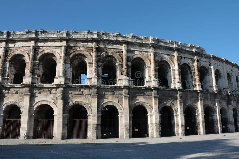 Arena of Nimes. In Gard,Languedoc region of France royalty free stock photography