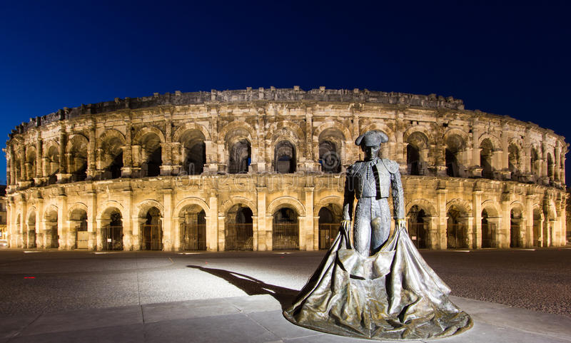 Arena of Nimes stock images