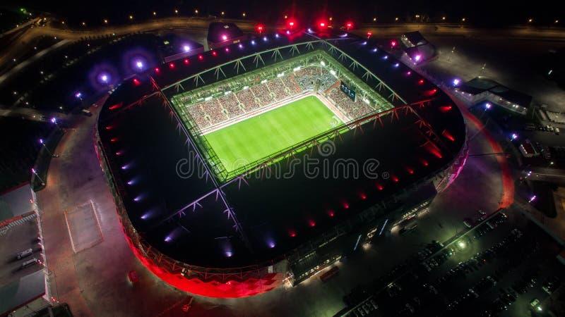 Arena Otkrytie at Night stock image