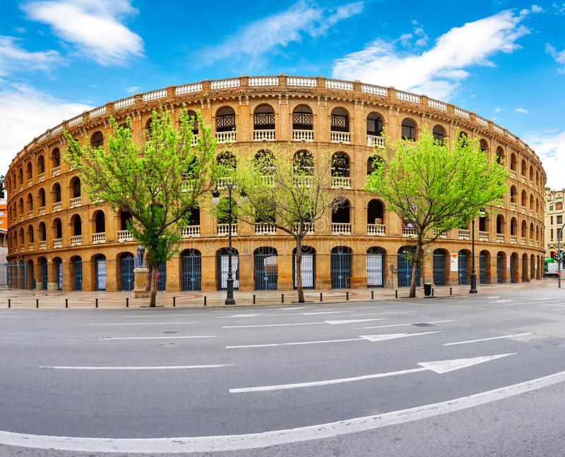 Arena Plaza de Toros de la plaza de toros en Valencia fotos de archivo libres de regalías