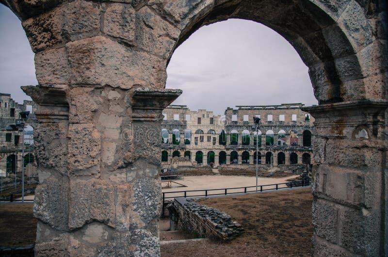 Arena in Pola fotografia stock