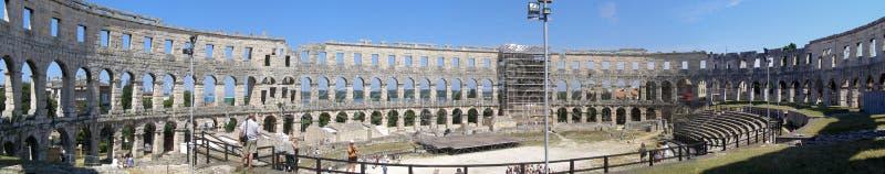 Arena, Pula, Kroatien lizenzfreie stockfotos