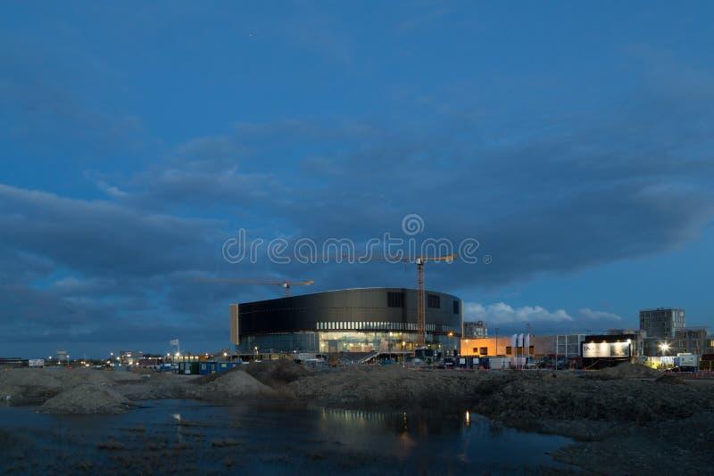 Arena real en Copenhague bajo construcción fotos de archivo libres de regalías