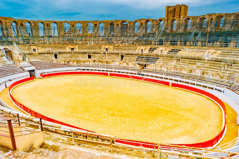 Arena and roman amphitheatre in Arles, France royalty free stock images