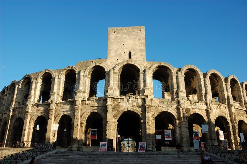Arena romana in Arles immagini stock libere da diritti