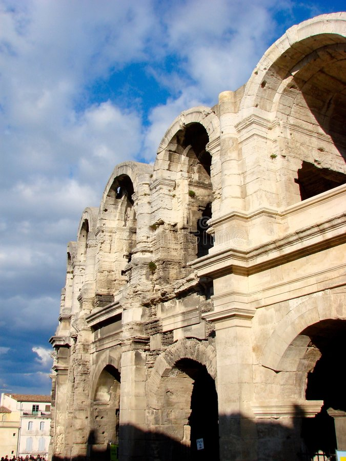 Arena romana em Arles fotos de stock royalty free