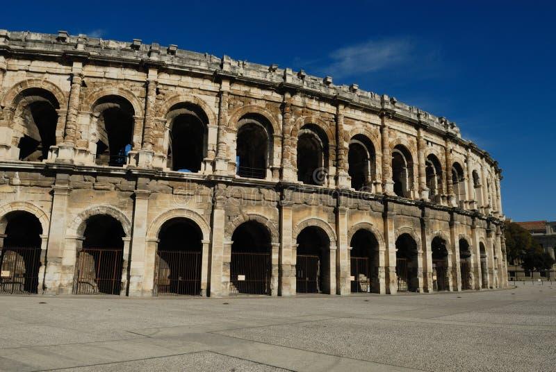 Arena romana en Nimes Francia fotografía de archivo libre de regalías