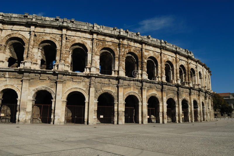Arena romana a Nimes Francia fotografia stock libera da diritti