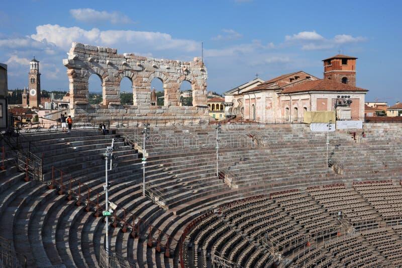 Arena romana a Verona fotografie stock libere da diritti