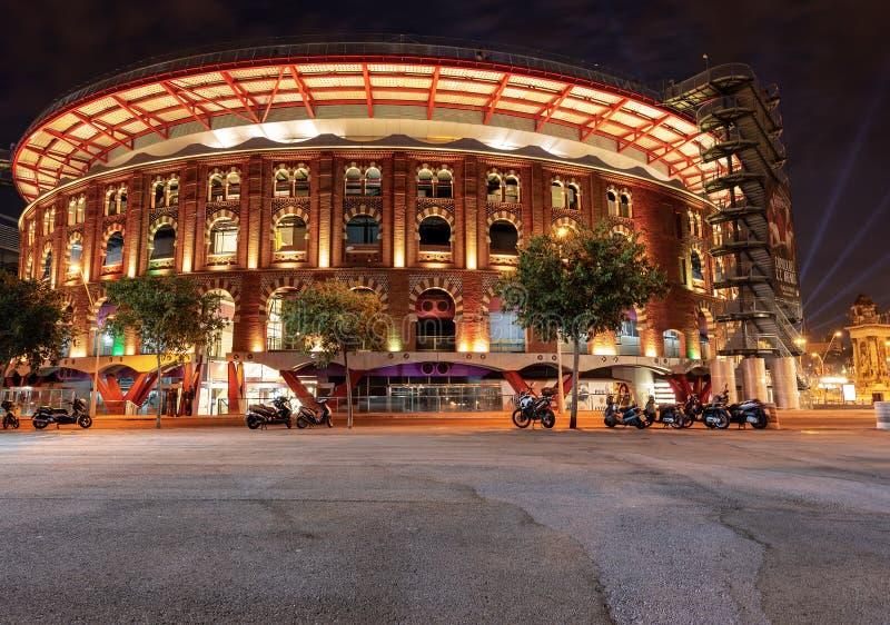 Arena's DE Barcelona - Arenawinkelcomplex - Spanje royalty-vrije stock afbeelding