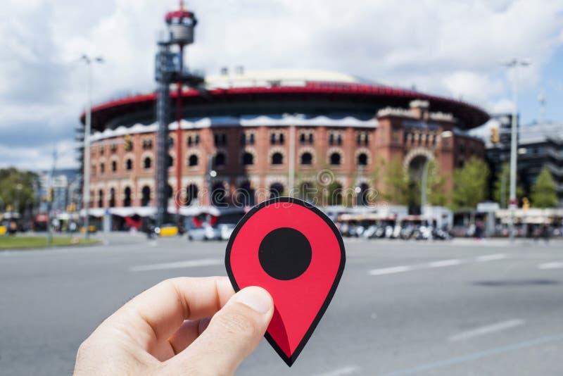 Arena's DE Barcelona, in Barcelona, Spanje stock fotografie
