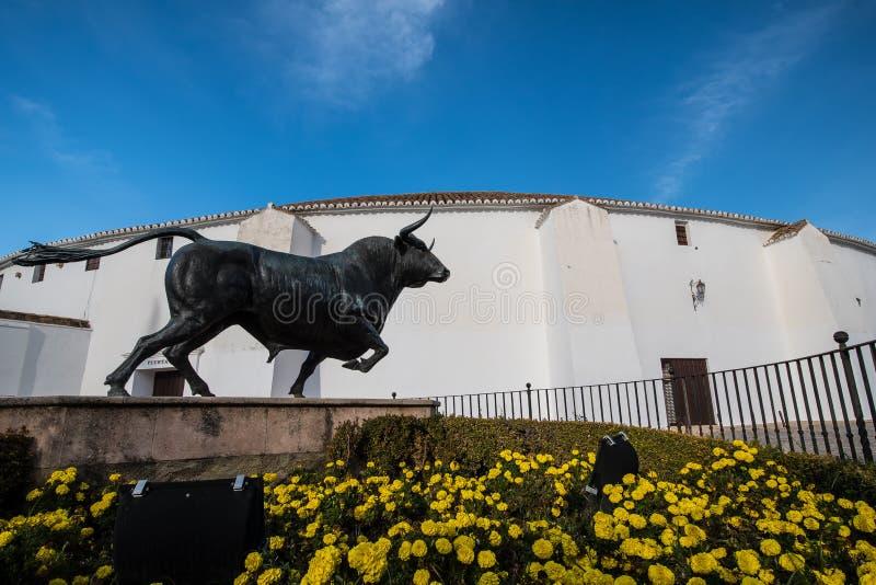 Arena situata a Ronda, Spagna immagini stock