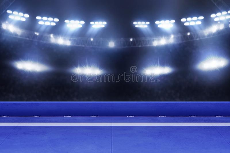 Arena torneo di karate, concetto sportivo fotografie stock