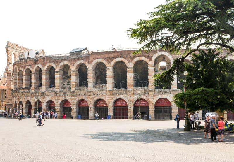 Arena van Verona stock foto's