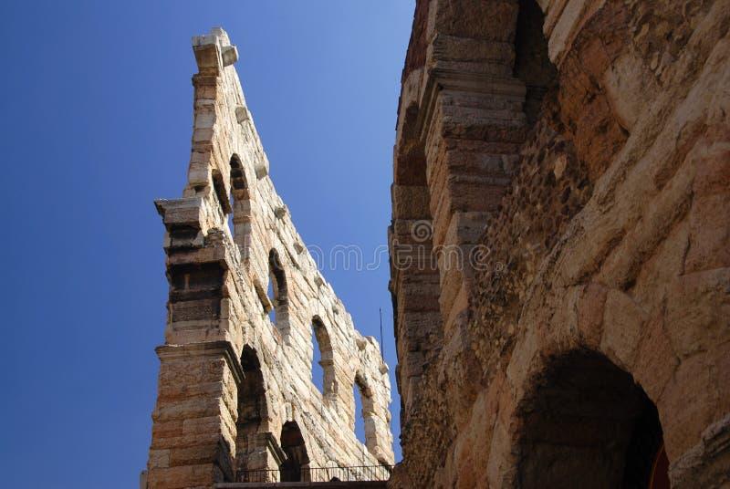 Arena in Verona. Roman amphiteatre called Arena di Verona, actually used as opera theatre, Italy stock photo