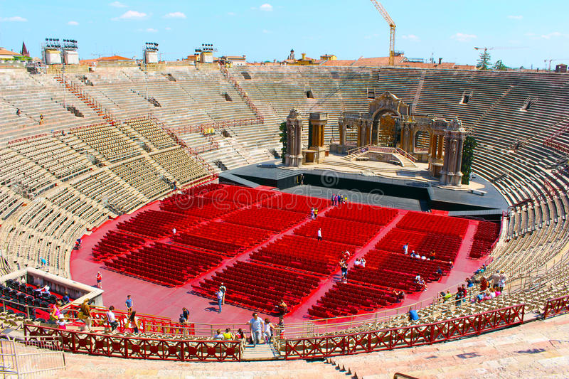 Arena in Verona royalty-vrije stock foto's