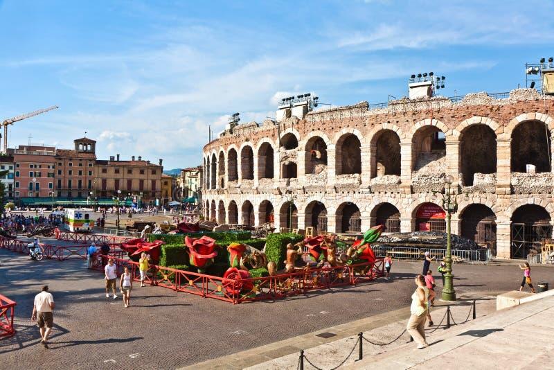 Arena in Verona Italy royalty-vrije stock foto's