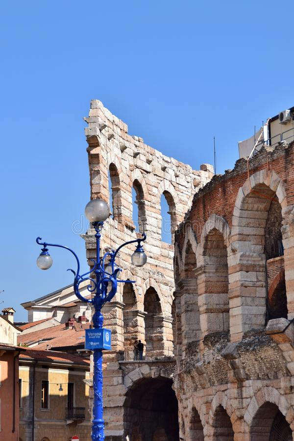 Arena of Verona in Italy. Arches arena of Verona in Italy royalty free stock photography