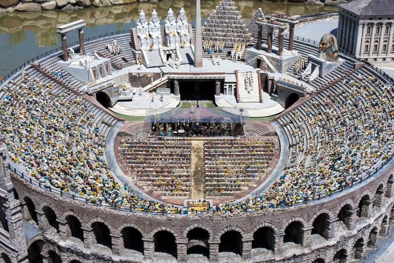 Arena Verona People Opera Italy Mini Tiny stock images