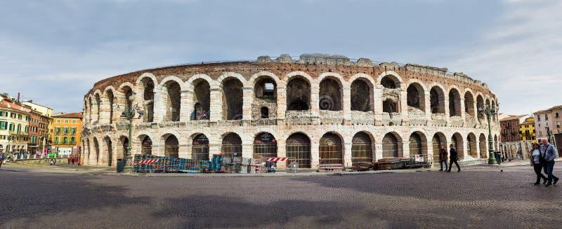 Arena Verona, vista da fuori, foto panoramica fotografie stock