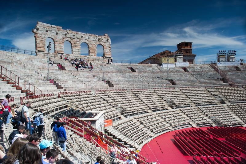 arena wśrodku Verona fotografia royalty free