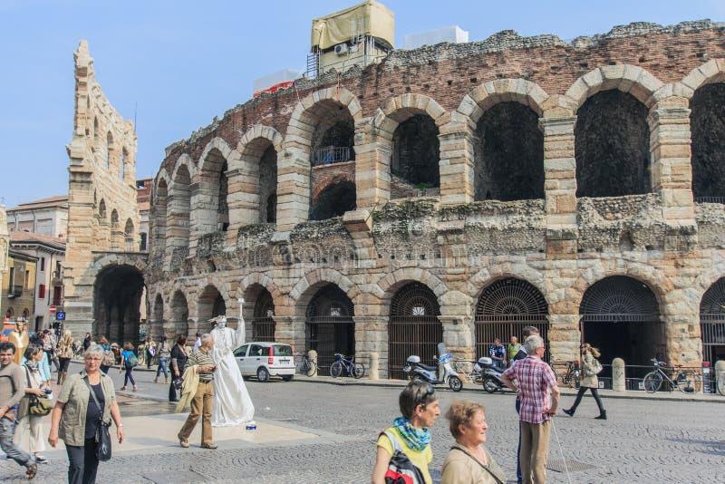 Arena w Verona. obrazy royalty free