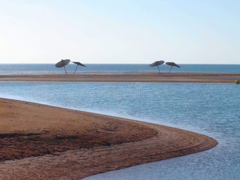 Arena y mar, Egipto imagenes de archivo
