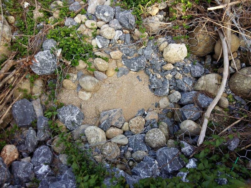 Arena y rocas foto de archivo libre de regalías
