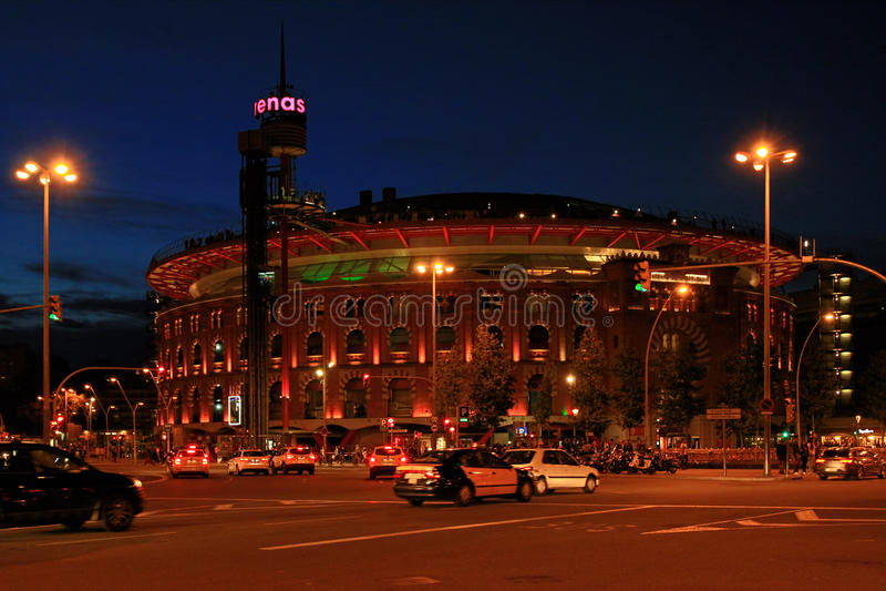 Arenaarena's DE Barcelona, Spanje stock foto's