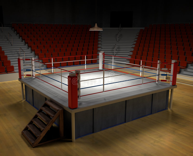 arenaboxning royaltyfri fotografi