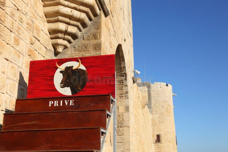 arenabullfight france royaltyfri bild