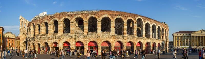 Arenadi Verona Panorama stock afbeeldingen