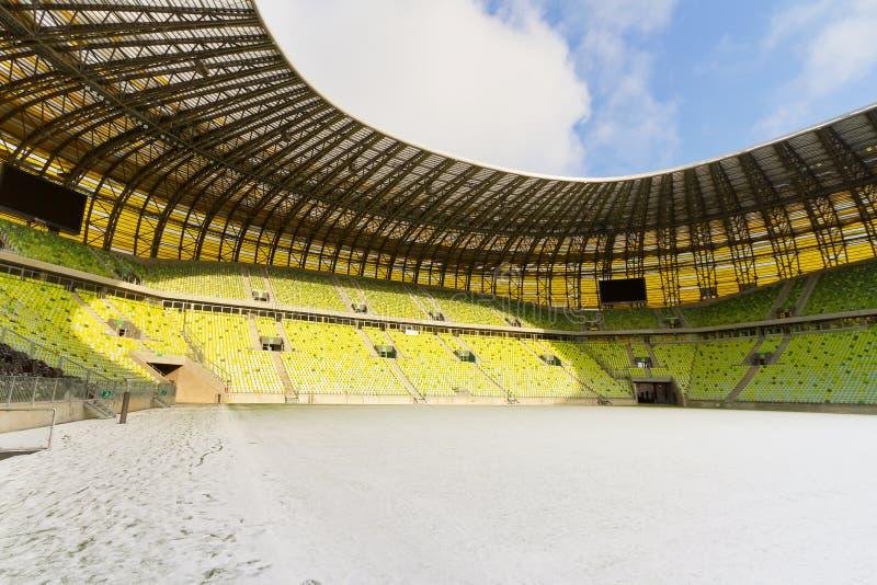 Arenaen Byggde Gdansk Nytt Pgestadion Redaktionell Arkivbild