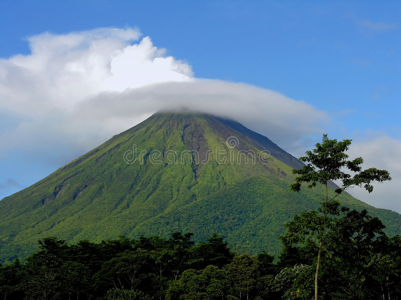 arenal Costa Rica volcan стоковое изображение rf