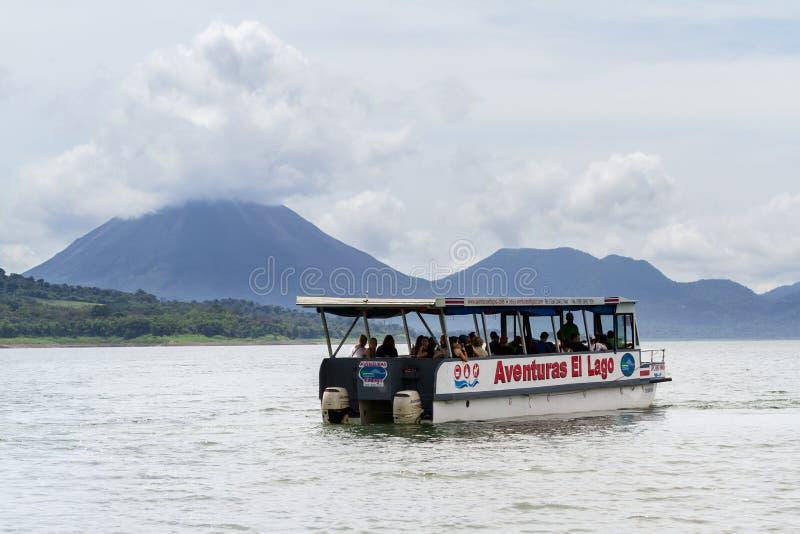 Arenal Lake tours, Costa Rica royalty free stock image