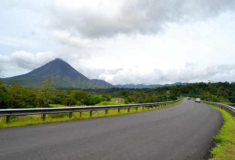 Arenal Volcano Landscape stock image