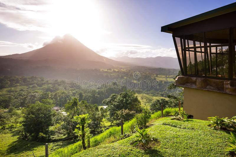 Arenal volcano stock images