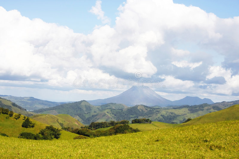 Arenal Vulkaan (Costa Rica) stock foto