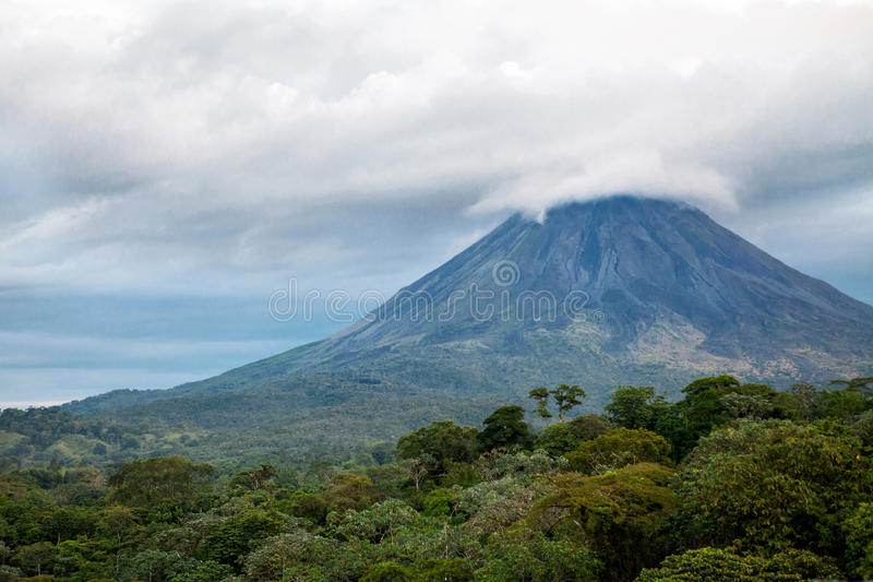 Arenal Vulkaan, Costa Rica royalty-vrije stock afbeelding
