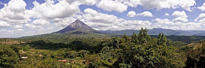 Arenal wulkan, Costa Rica fotografia stock